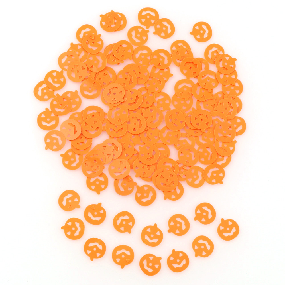 15g Orange Halloween Pumpkin Confetti Tinfoil Sequins Sequins Horror Ornaments Confettis Holiday Decoration Toy Supplies