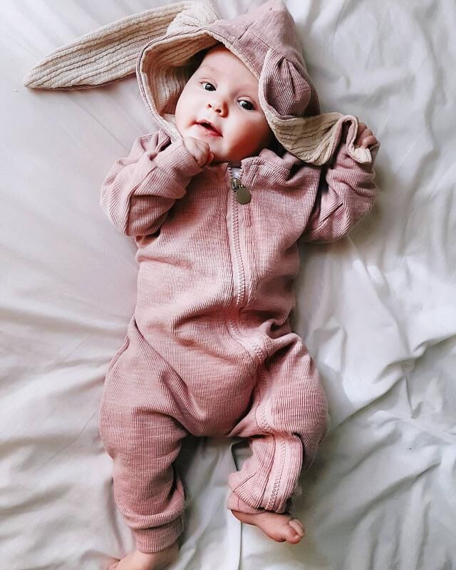 Newborn Baby Girls Boys Clothing   Rompers   Rabbit Warm Long Sleeve Bunny Style Pajamas Infant Zipper Jumpsuits Toddler Hooded
