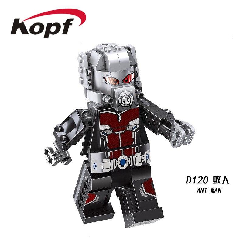 Single Sale Building Blocks Super Heroes Bricks Ant-Man Mask Thanos Action Figures Eduation For Children Gift Toys D120