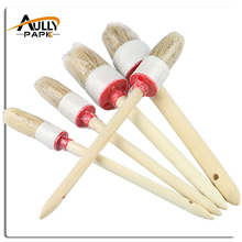 New 5 PCS Car Cleaning Wood Handle Car Detailing Brushes For Interior,Dashboard,Rims,Wheel,Air-Conditioning,Engine,Corner