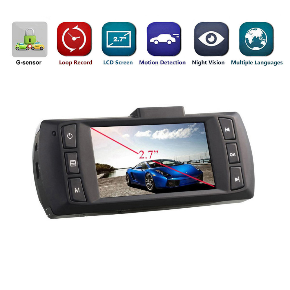 2018 Auto Dash Cam Car DVR Camera Video Recorder FHD 1080P Dash Car DVR G-Sensor Dash Camera Night Vision Registrator Display
