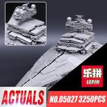 Лепин 05027 3250 шт. Звезда игрушка Wars Super Star подарок Разрушитель модель Starship Строительные блоки Кирпич Развивающие детские игрушки 10030