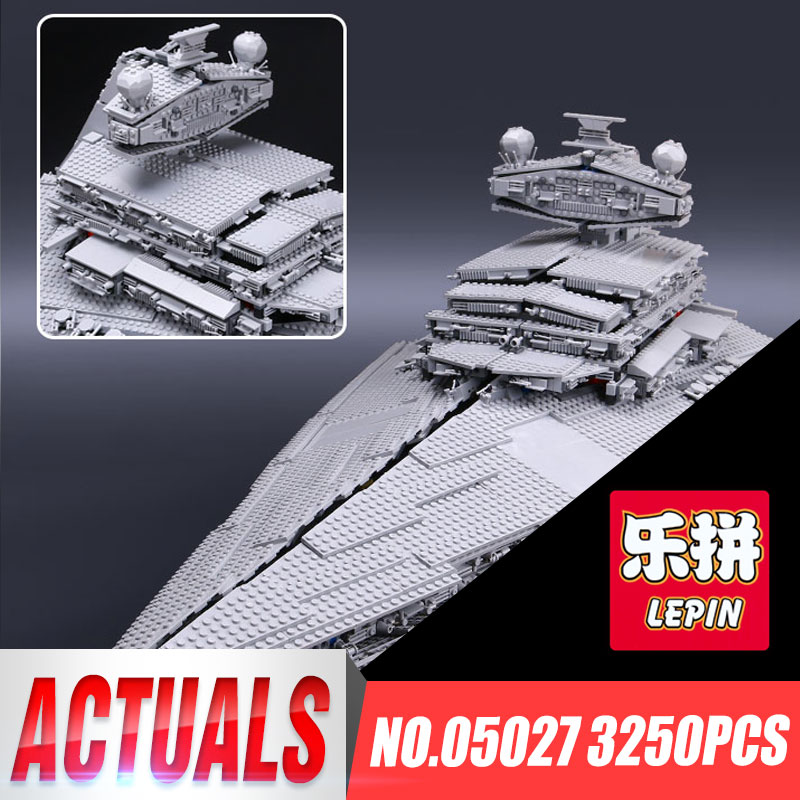 LEPIN 05027 3250Pcs Star Toy Wars Super Star Gift Destroyer Model Starship Building Blocks Brick font