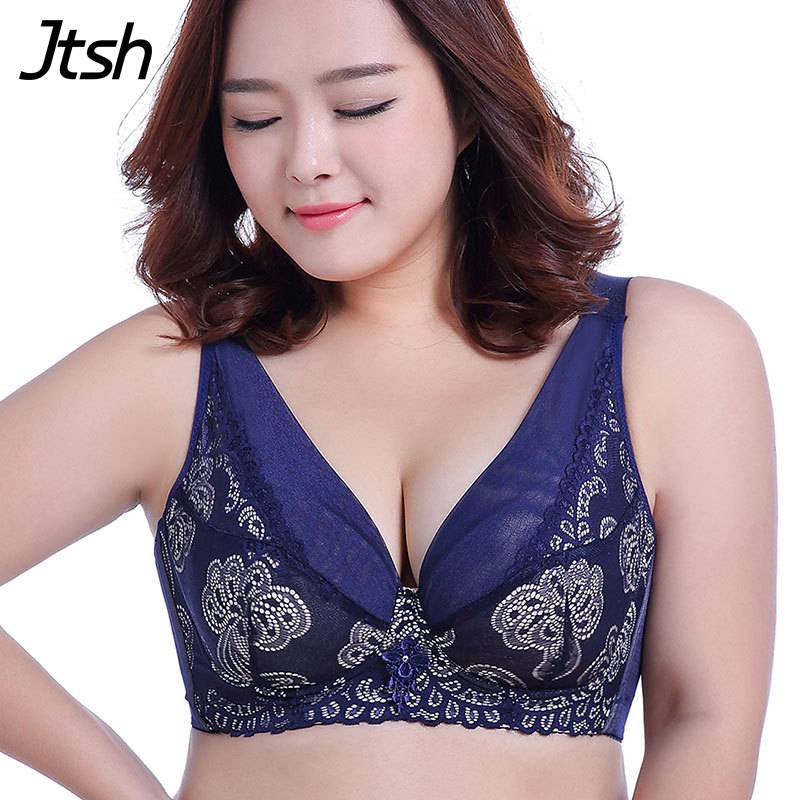 12078df918 Online Shop 50F 50E 48F 48E 46F 46E 44F 44E Plus Size Bra Big Size Sexy  Underwire Thin Lace Push Up Brassiere Bras Large Cup D E F Bra Sutia