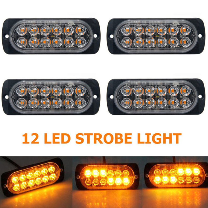 12V-24V 18W Car Truck Emergency Light Flashing Firemen Lights 12Led Car-Styling Ambulance Police Light Strobe Warning Light HB
