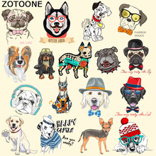 ZOTOONE Cartoon Dog Patches Iron On Transfer Sticker For Clothes Badge Appliques DIY T-shirt Dress Thermal Heat Transfer Paper C laser heat thermal transfer printing paper for t shirt clothes fabric roll size 420mm 30m tl 150m