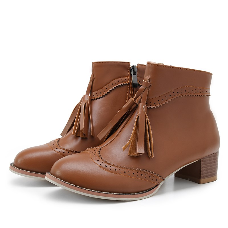 ФОТО Autumn Winter Women Boots 2016 New High Quality Ladies PU Leather Fashion Ankle Boots women