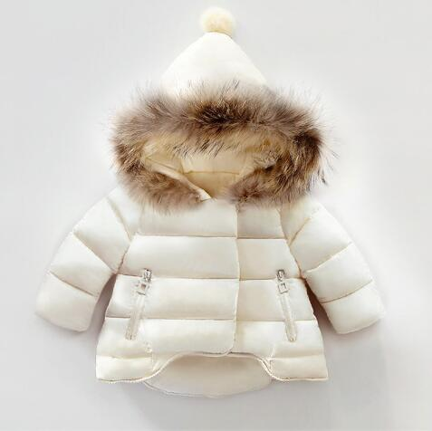 kids winter jackets 2018 baby girls winter coat infant children clothing fur collar hooded thick jacket baby girl boy clothes