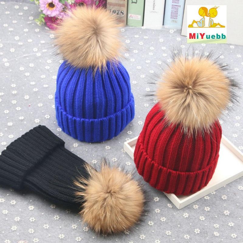 Women Hats Parent Child Caps Kids Winter Bonnet Warm Soft Hat For Children New