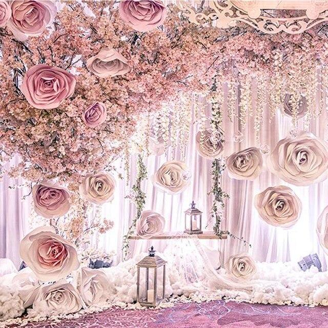 Online shop 36pcs giant paper flower set large flower big paper 36pcs giant paper flower set large flower big paper flower for wedding party background flower wall backdrop decoration mightylinksfo