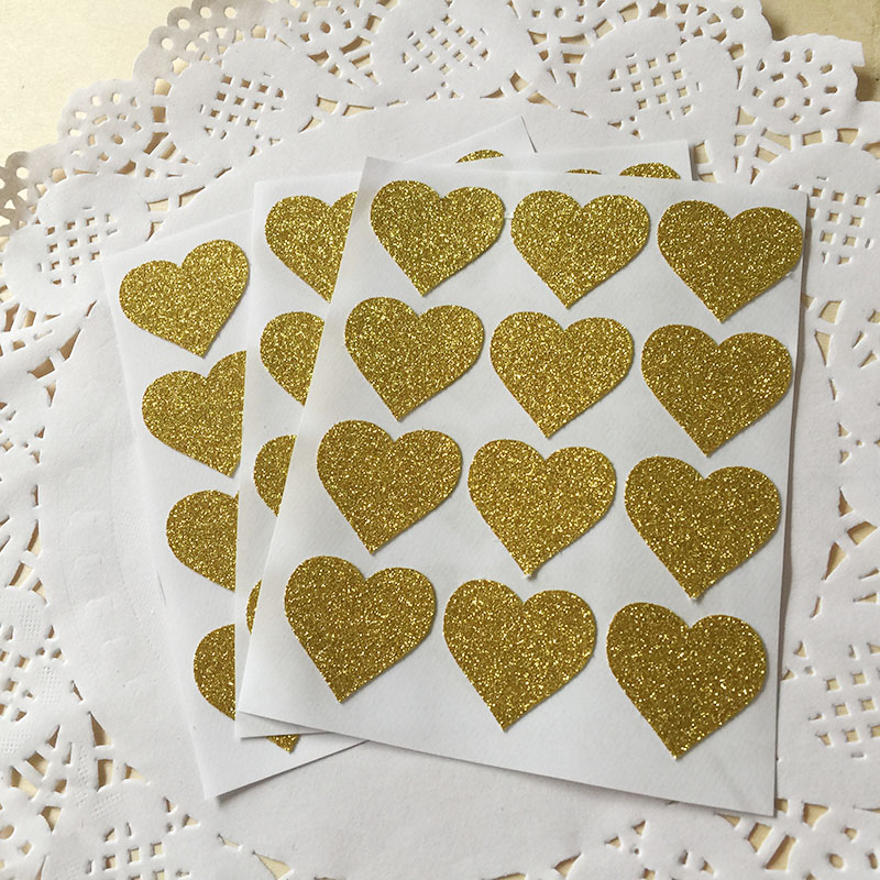 Gold/Silver Glitter Heart  Stickers Labels for Birthday Baby Shower Wedding Party Decorations DIY For Envelope/Jewelry/Box/BagGold/Silver Glitter Heart  Stickers Labels for Birthday Baby Shower Wedding Party Decorations DIY For Envelope/Jewelry/Box/Bag