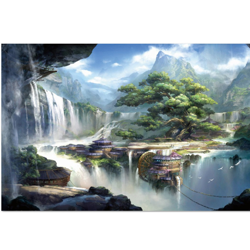 Adults 1000 pieces Casual Cozy Landscape Puzzle New Arrival Puzzle 1000 Piece Wooden Paper Educational Toy Decoration Gift puzzle 1000 парижская горгулья кб1000 6851