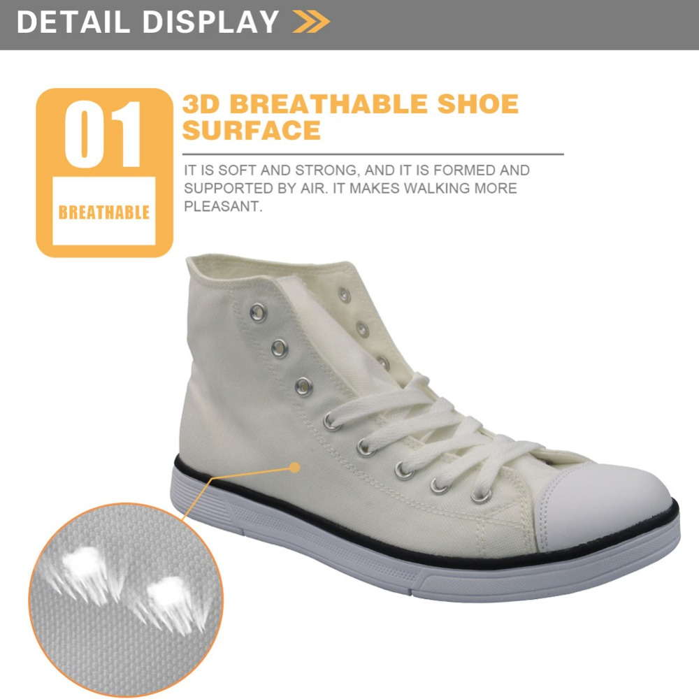 Twoheartsgirl Cool Dentist Pattern High Top Zapatos de lona Sneakers - Zapatos de mujer - foto 2