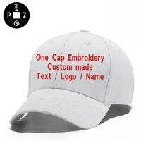 PLZ Customized Gift Baseball Cap One Cap Embroidery Custom Made DIY Logo Snapback Men Women Initials