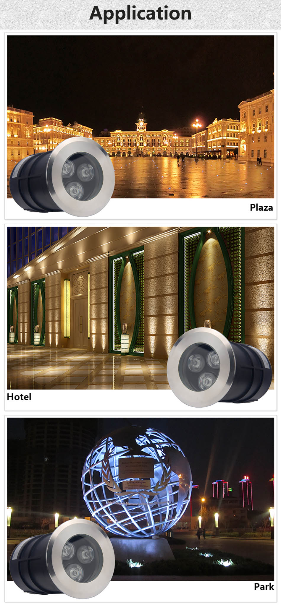 1w 3w IP68 Underground Light 8