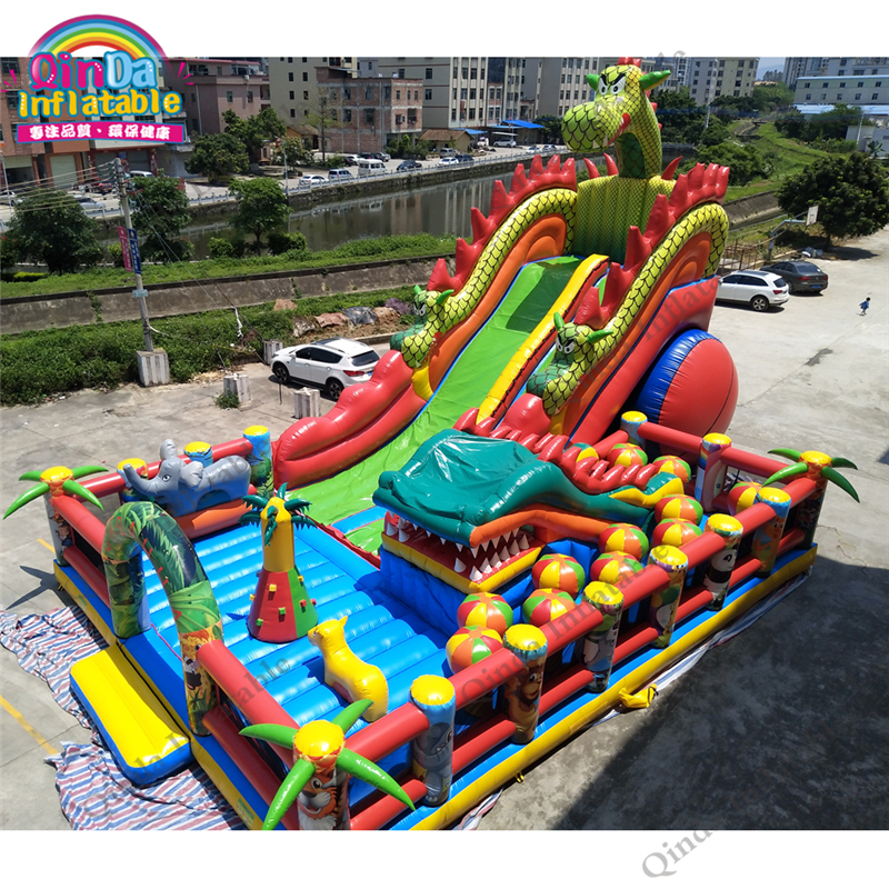 17*11m Large Inflatable Castle Bouncy Castle For Kids Jumping Castle Free Air Blower Inflatable Bouncy House