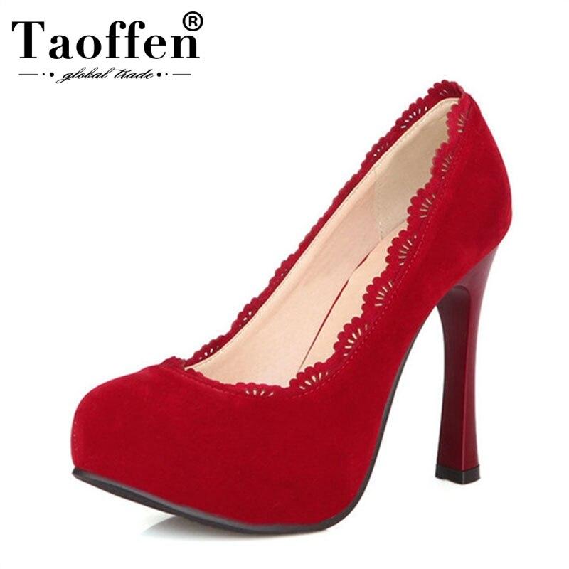 30 Grande À 48 Noir Taoffen rouge Mince Talons marron forme Bout P16619 Hauts Plus Chaussures Chaussures Femelle Femmes Plate Pompes Taille Marque Pointu ZTRnqRUpE