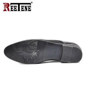 Image 2 - REETENE MenS Dress Shoes Fashion Pu Leather Shoes Men Brands Wedding Oxford Shoes for MenS Breathable Men Formal Footwear