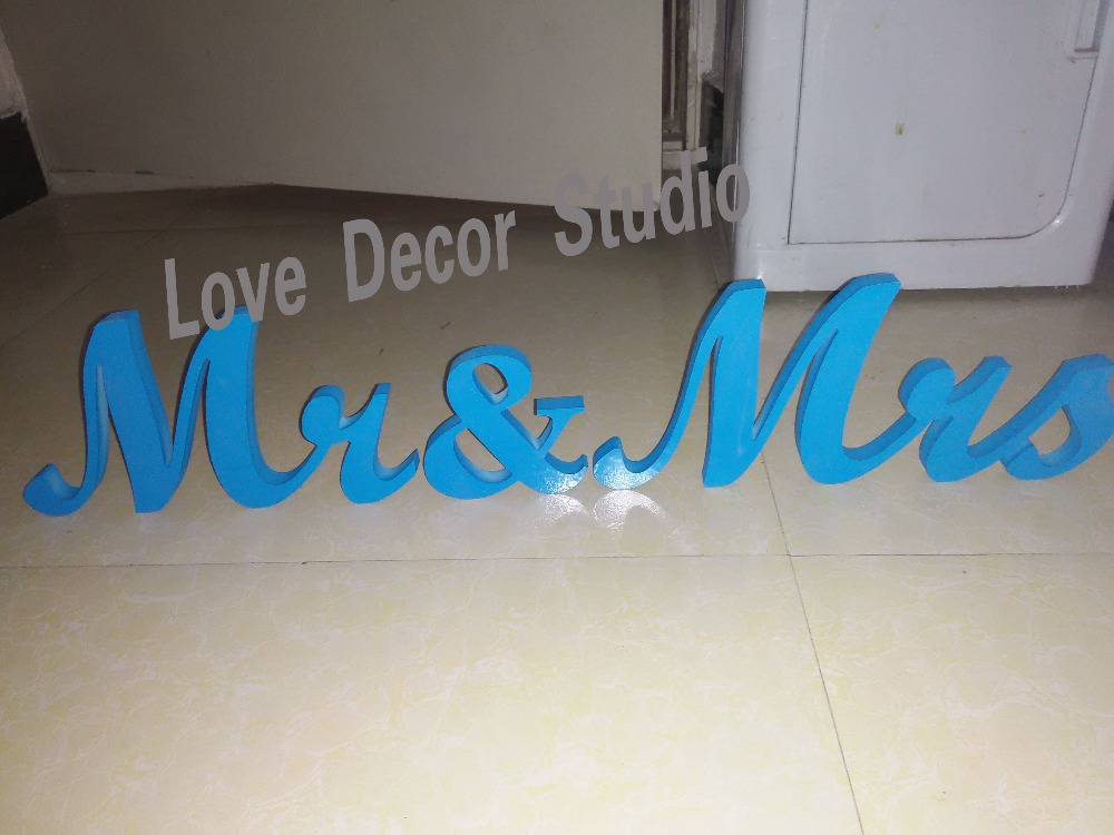 Painted In Black MRS & Mr Pvc Letters For Sweetheart Table