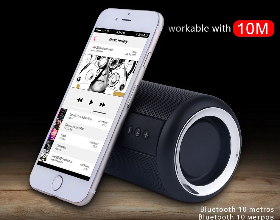 Opruide HiFi Waterproof Portable Bluetooth Speaker With 3D Stereo Music Surround And AUX For Smartphone 10