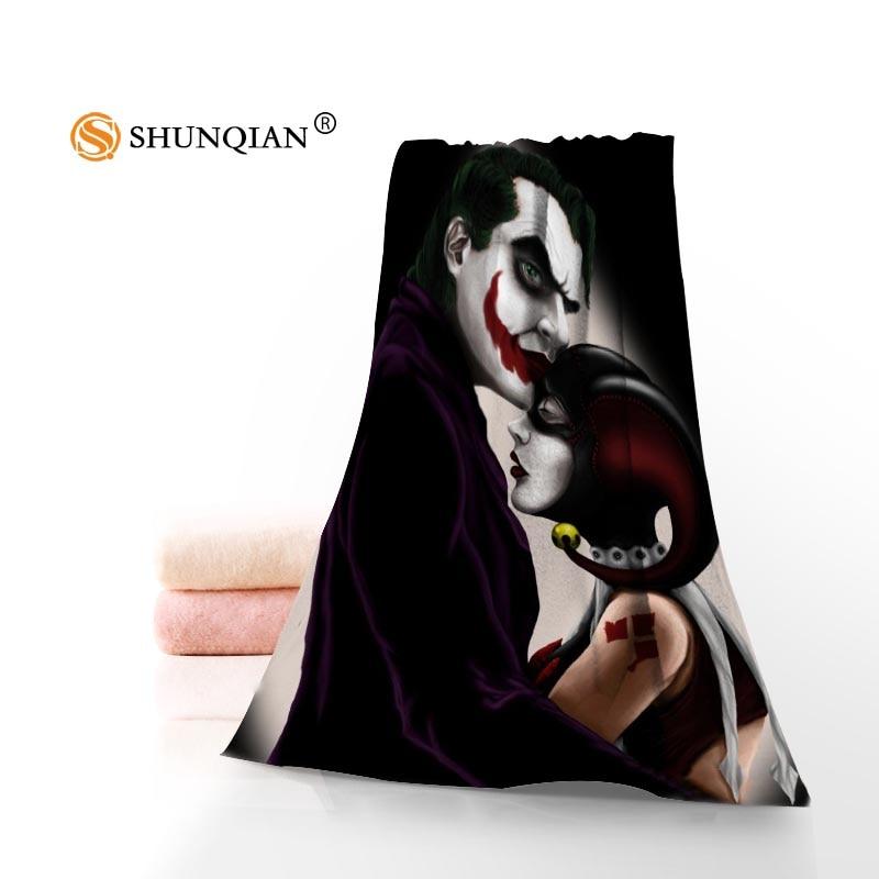 Caliente Custom Joker impreso algodón Cara/Toallas de baño microfibra Telas para niños hombres mujeres ducha Toallas a7.24-1