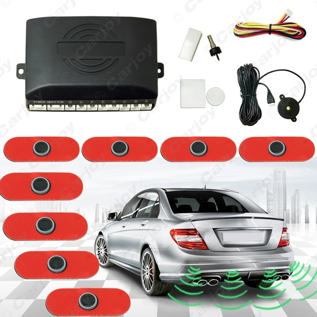 Car 8pcs Original Sensors 16.5mm Reverse Backup Radar 4 Front 4 Rear Beep Alarm Parking Sensors  #CA1359