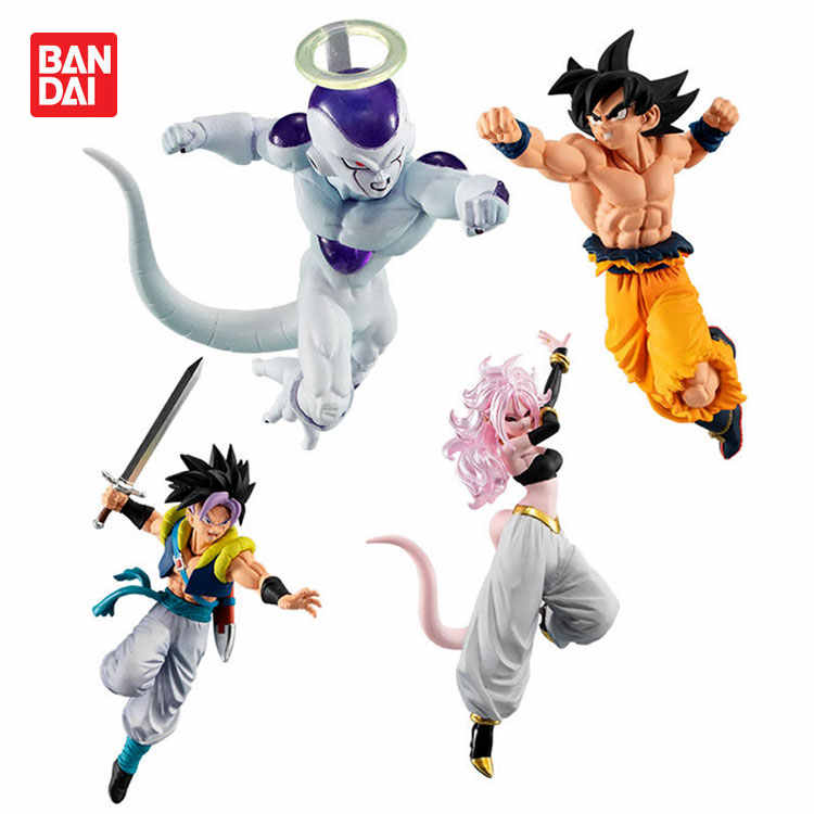 Original BANDAI Styling Super Dragon Ball GOKU VS 10 Freeza Trunks Android NO.19 21 Figura Brinquedos Brinquedos Bonecas Figurals