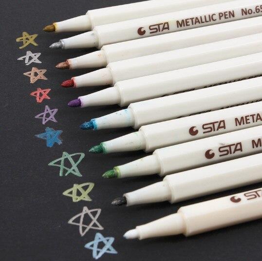 1 шт. цветная металлическая маркерная ручка STA 10 цветов поделки для скрапбукинга водостойкая масляная ручка художественная маркерная ручка канцелярские принадлежности