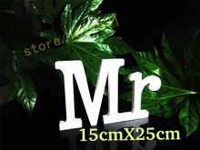 Сочетающиеся буквы высотой 15 см украшение для дома «mr & mrs»