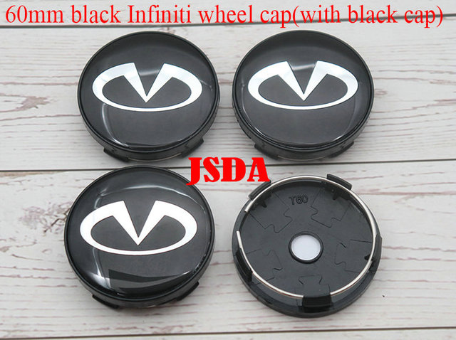 56mm Hub Cap Stickers For INFINITI G35 G37 Q50 Q60 Q70 ETC Wheel Center Mag Rim Hubcap Emblem Logo Sticker PLEASE MEASURE Before Purchase for Best Fitment RENGVO Pack of 4 BLACK 2.20 inch