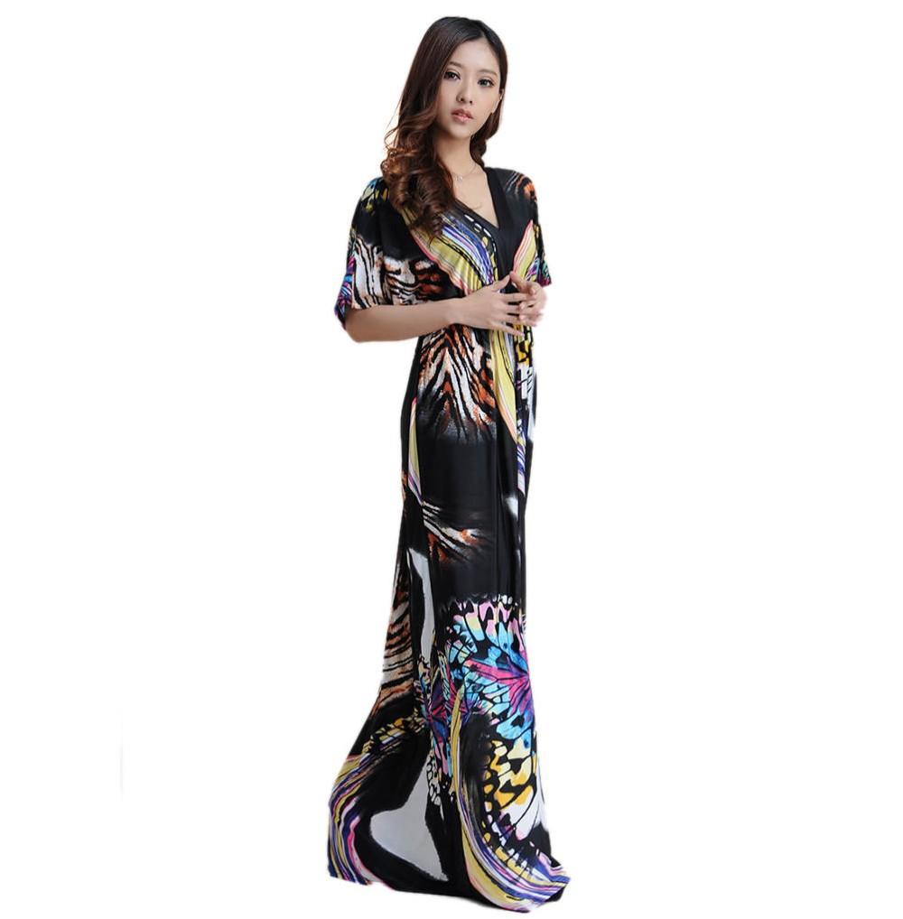 Boho Print Maxi Dress 6XL 16