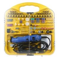 176 Piece AC220V Dremel Drill 180W Electric Grinder Engraver Flex Shaft Accessories Cutting Engraving Grinding Sanding