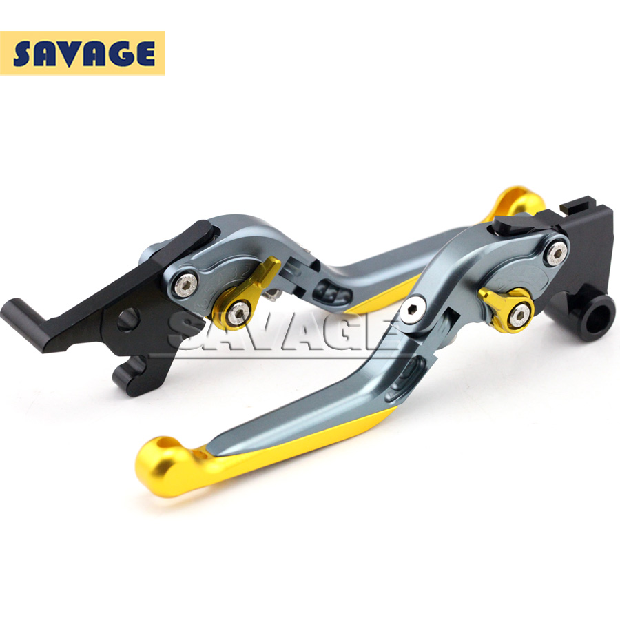 For YAMAHA YZF-R25 YZF-R3 YZF R25 R3 Motorcycle Accessories CNC Adjuster Folding Extendable Brake Clutch Levers Gold+Titanium