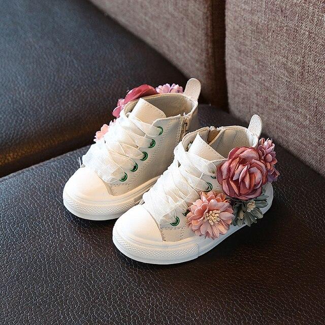 秋 2018 新ファッション子供の靴屋外スーパー完璧なデザインかわいい女の子の王女の靴カジュアルスニーカー 1-3 歳