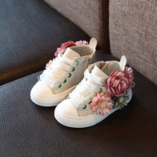 Autumn 2018 new Fashion Childrens shoes outdoor super perfect design cute girls princess shoes casual sneakers 1-3 years old cheap casual shoes Rubber Floral Fits true to size take your normal size Cotton Breathable The little wings Cotton Fabric
