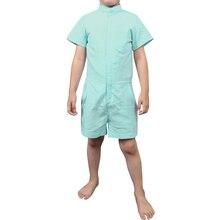 Hot Sale Children Boy Zipper Jumpsuit Cotton Short Sleeve Overalls Summer Casual Children Clothes
