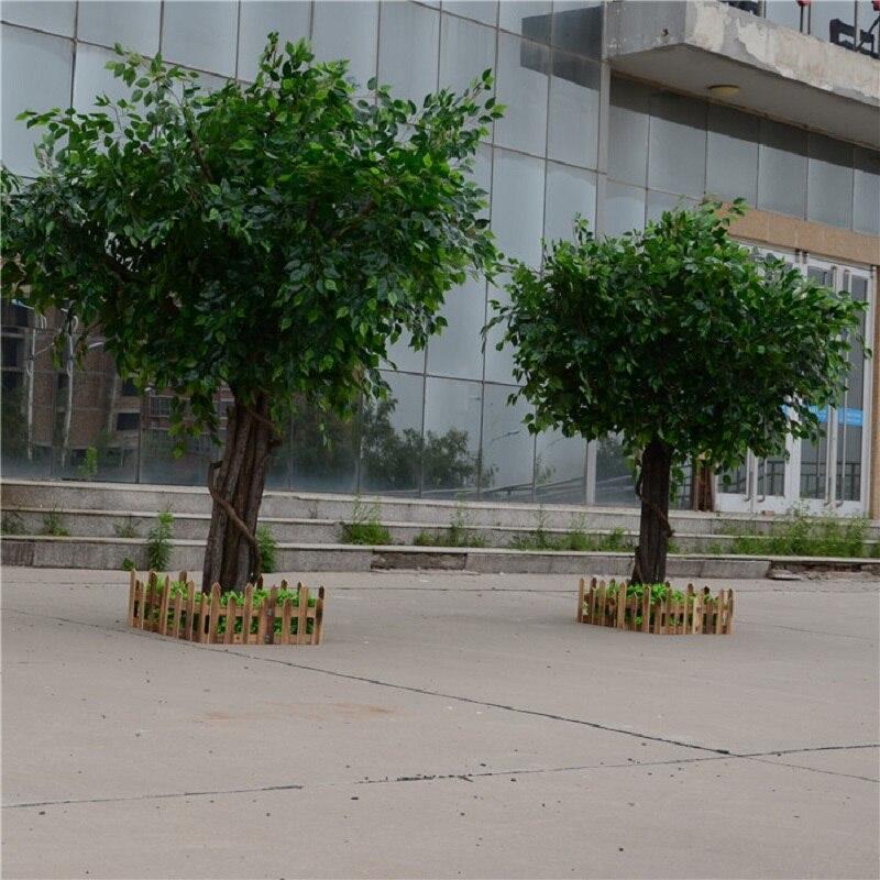 Artificial ficus microcarpa artificial grande árvore árvores falsas grande planta decoração do lobby do hotel composição - 5
