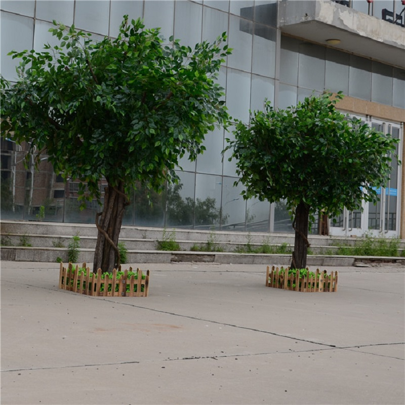 artificial Ficus microcarpa artificial big tree Fake trees Large plant decoration Hotel lobby composition - 5