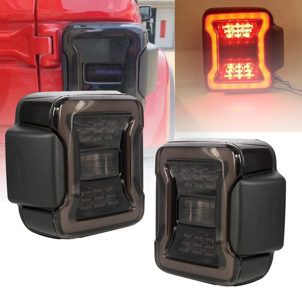 TNOOG feu arrière LED assemblage DRL & clignotant & sauvegarde inverse pour Jeep Wrangler JK JKU 2007-2017