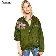 57abfb99fd 1 unid bombardero chaqueta mujeres Pavo Real flor parche bordado mujeres  Jaqueta Feminina Chaquetas Mujer primavera Chaquetas Z4.