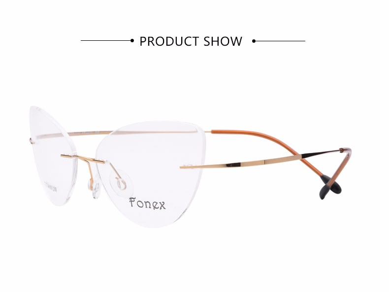 rimless women cat eye glasses silhouette fashion eyewear eyeglasses (3)