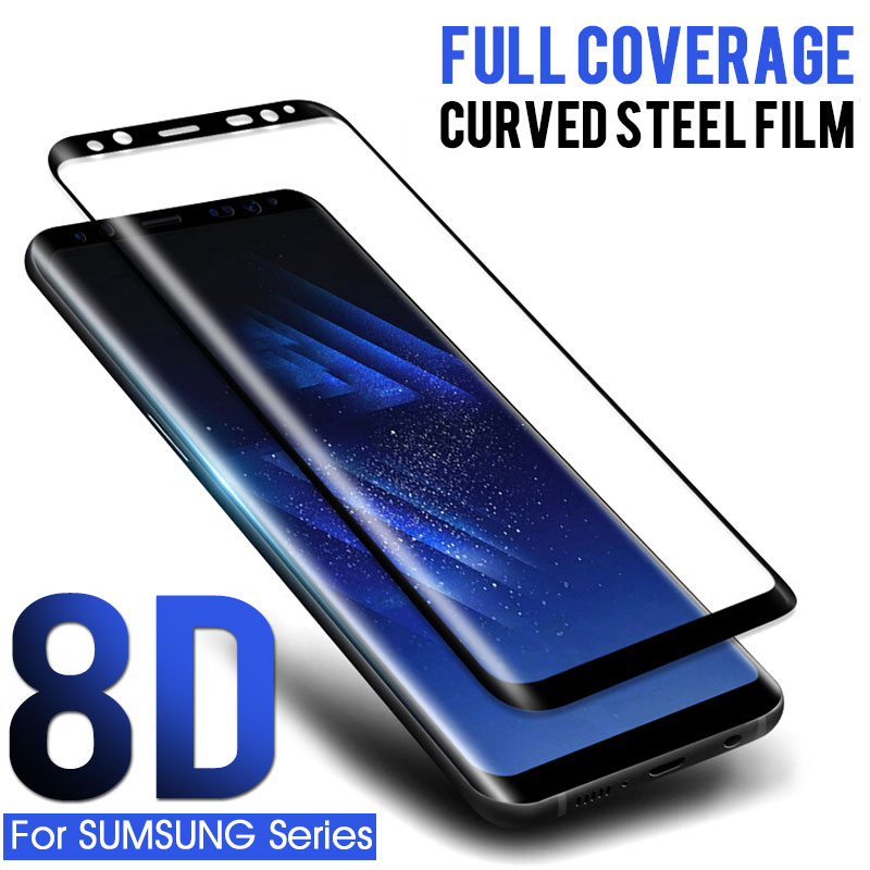 8D Curved Tempered Glass 0n the For Samsung Galaxy s8 S9 plu