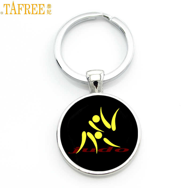 TAFREE Brand simple design Judo Karate sports keychain high quality handmade women men fashion key chain ring jewelry gift SP589