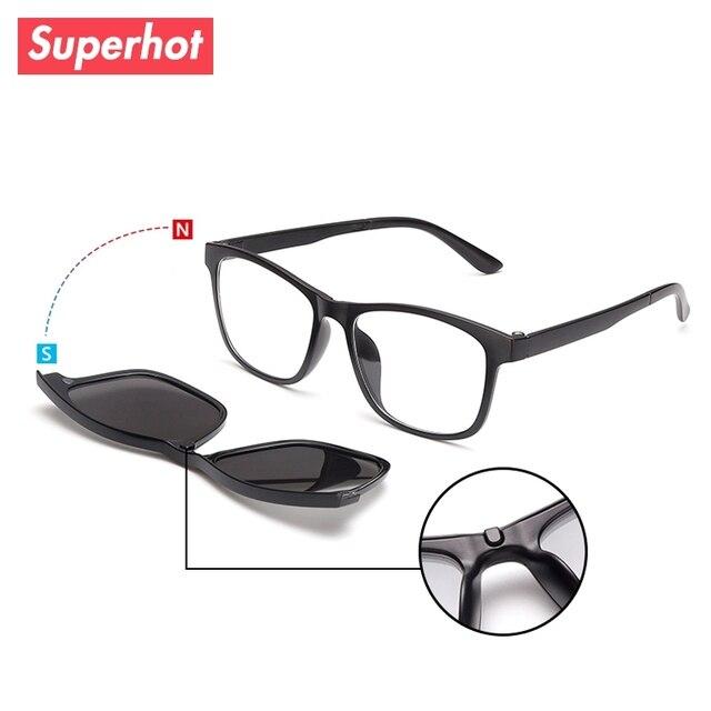 4fa57f2ddc5e New Clip Driving Sunglasses Men Women Polarized Outdoor Sun glasses with  optical Magnetic Clip