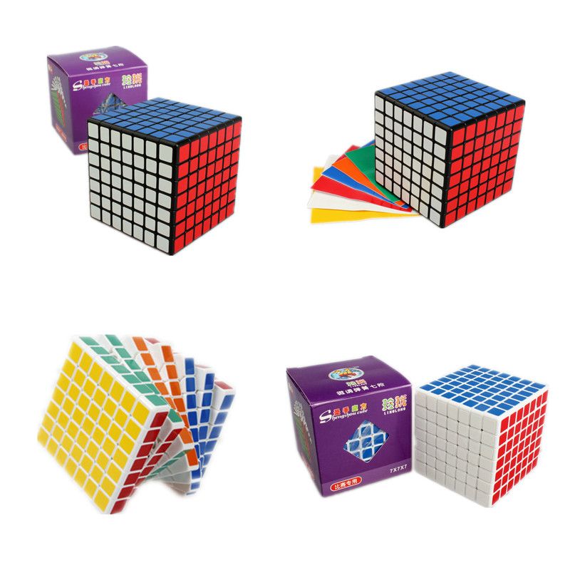 ShengShou LINGLONG Mini 7x7x7 Magic Puzzle Cube 69mm Square Speed Neo Cube Blocks Cubo Magico with PVC Sticker for Kids Toys