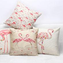 100% New Printed Customized Wholesale Trade Sales Cotton Linen Thanksgiving Capa De Almofada Home Decor Cushion Factory Supply