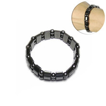 Black half moon magnetic black stone bracelet for slimming and weight loss