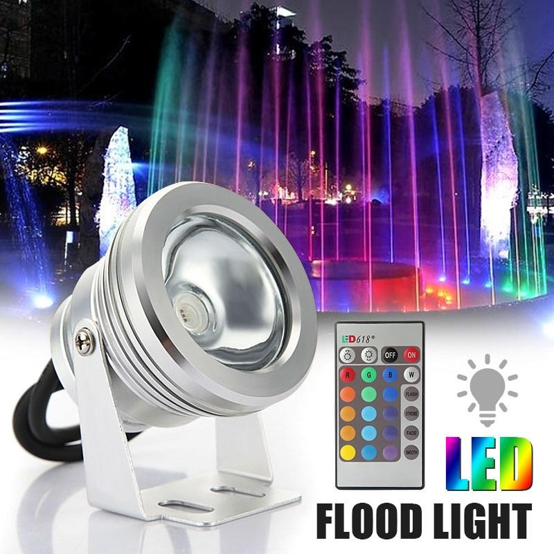 Versprechende 10 Watt LED Flutlicht Unterwasser RGB Led-Licht Wasserdicht IP68 Außenbeleuchtung Brunnen Focos LED Piscina Lampe Licht
