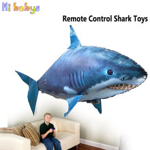 Remote Control Shark Robot Flying Toys Air Swim Clown Fish Inflatable Balloons Enjoyable Children RC Drone Toy Funny Party Decor(China)