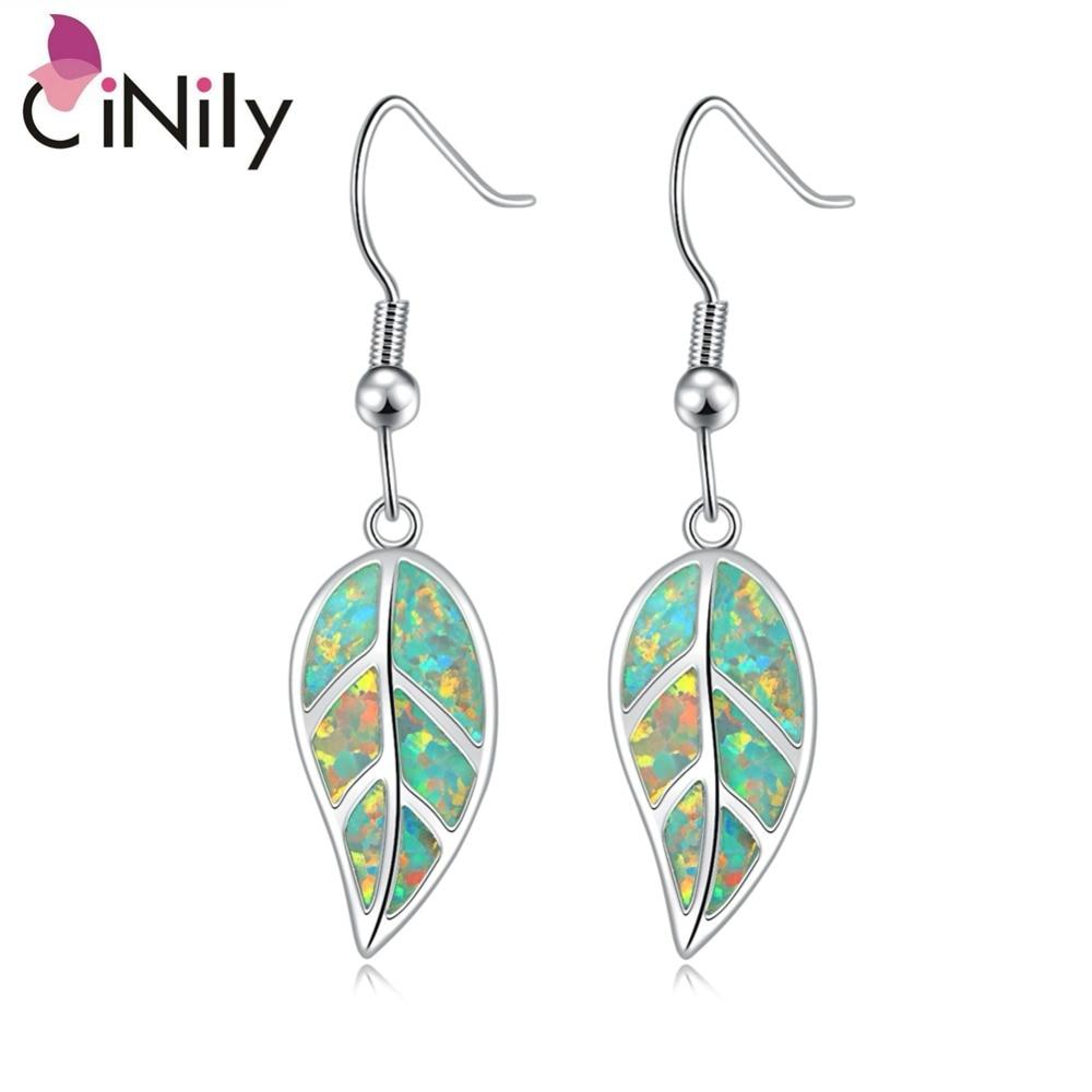 CiNily Ελιά Πράσινη Φωτιά Opal Long - Κοσμήματα μόδας - Φωτογραφία 1